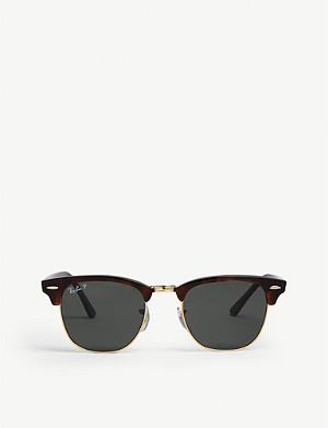 RAY-BAN RB3016 49 Clubmaster Havana square sunglasses