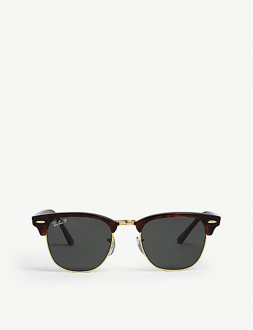 79011545b8d RAY-BAN RB3016 49 Clubmaster Havana square sunglasses