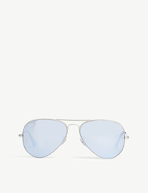 RAY-BAN Rb3025 polarised aviator-frame sunglasses