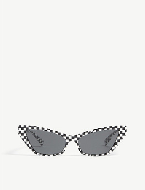 ASPINAL OF LONDON Le Matin checked acetate cat eye-frame sunglasses