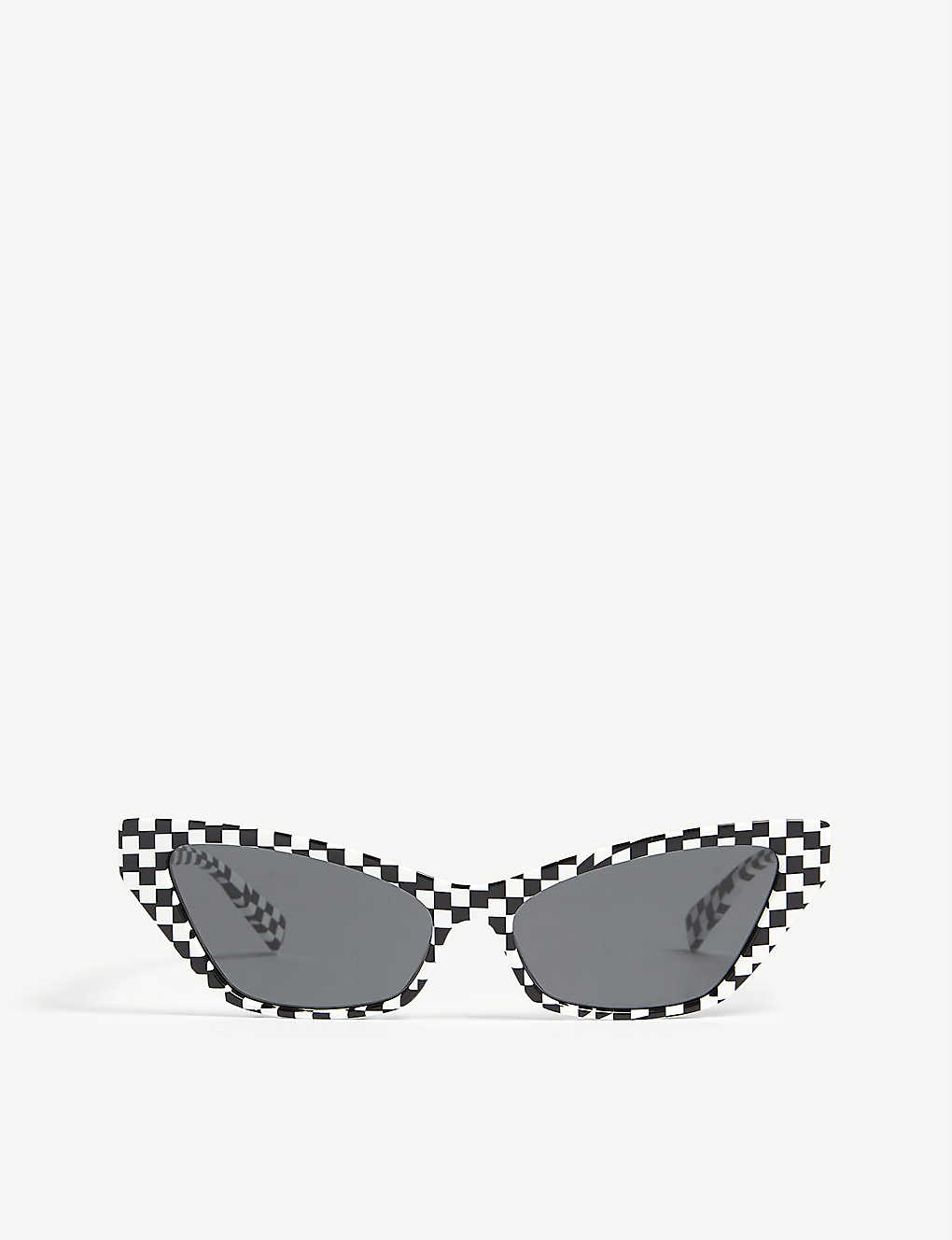 ALAIN MIKLI: Le Matin checked acetate cat eye-frame sunglasses