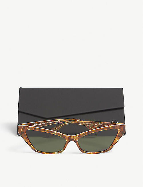 ALAIN MIKLI Le Matin Havana acetate cat eye-frame sunglasses
