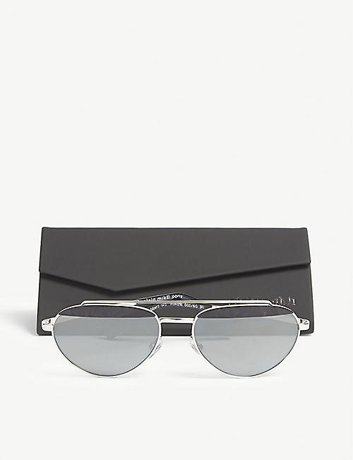 ALAIN MIKLI Elicot mirrored oval-frame sunglasses