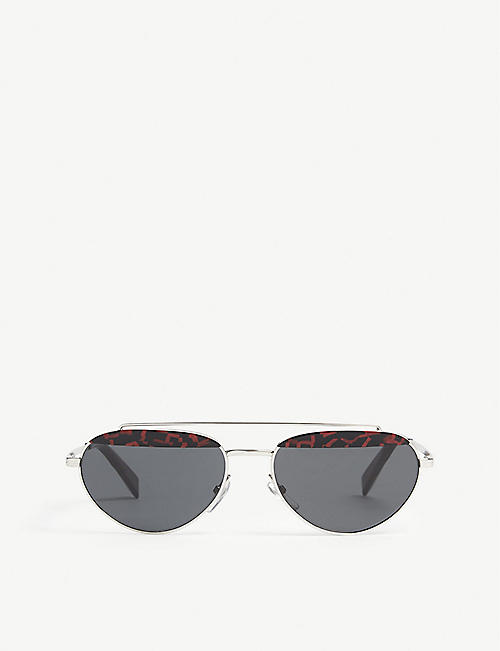 ALAIN MIKLI: Elicot patterned oval-frame sunglasses