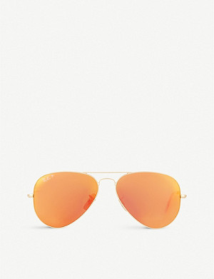 RAY-BAN RB3025 matte pilot sunglasses