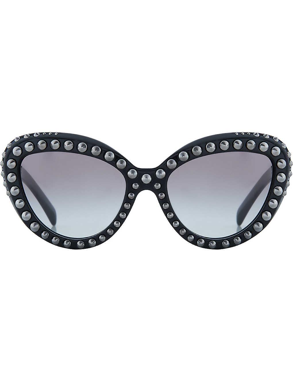 a90e170b5406 PRADA - PR31Q studded cat eye sunglasses | Selfridges.com
