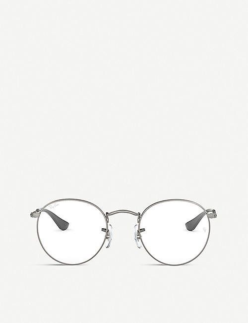 RAY-BAN: RX3447V metal round-frame glasses