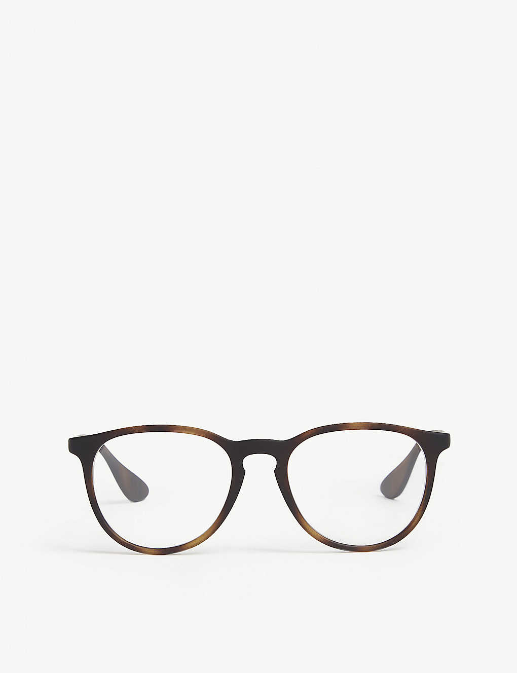 RAY-BAN: RB7046 pilot-frame Havana glasses