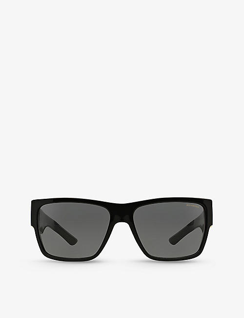 VERSACE: VE4296 rectangular-frame acetate polarised sunglasses