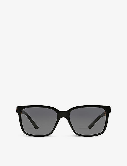 VERSACE: VE4307 rectangular-frame acetate and metal sunglasses
