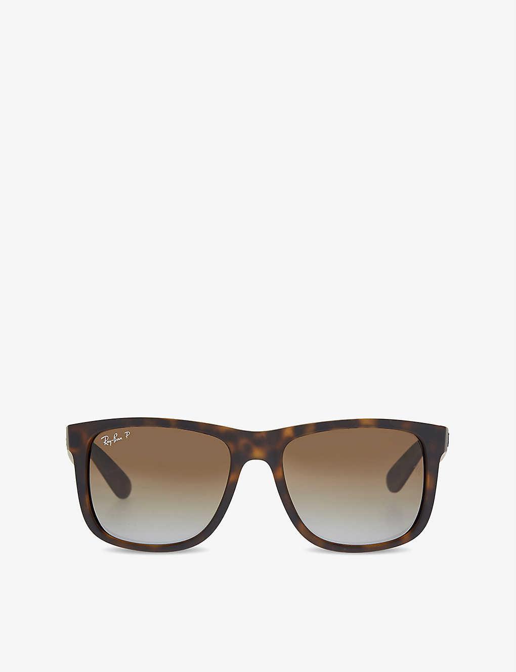 09280663a RAY-BAN - RB4165 tortoise shell rectangle sunglasses | Selfridges.com