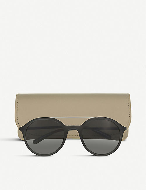 GIORGIO ARMANI Ar8077 metal top bar round-frame sunglasses