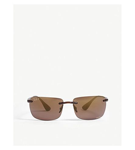 d1f715c0da RAY-BAN ORB4255 rimless square sunglasses (Brown
