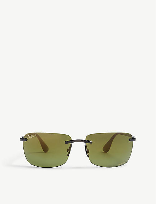 RAY-BAN RB4255 Chromance® square sunglasses