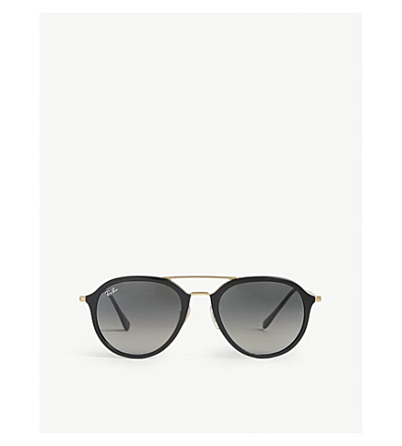 38dc136c97 RAY-BAN - RB4253 Double bridge round-frame sunglasses