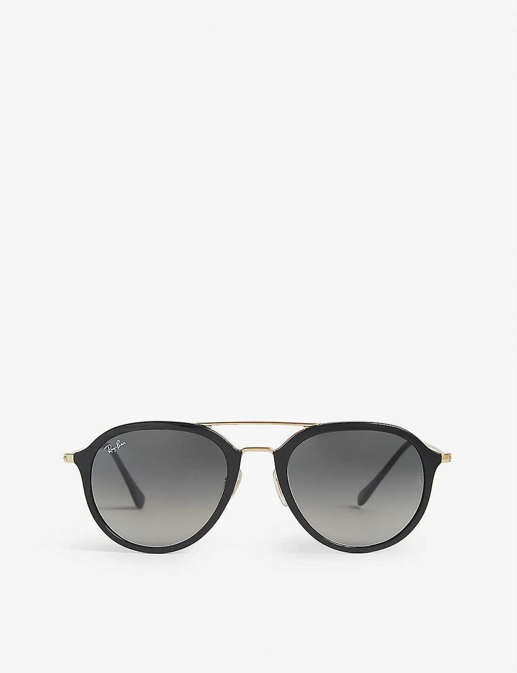 Rb4253 Ray Frame Ban Round Double Bridge Sunglasses vY7yIbf6gm