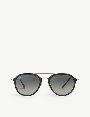 RAY-BAN RB4253 Double bridge round-frame sunglasses