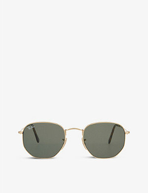 RAY-BAN RB3548 hexagonal-frame sunglasses