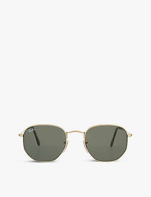 RAY-BAN: RB3548 hexagonal-frame sunglasses