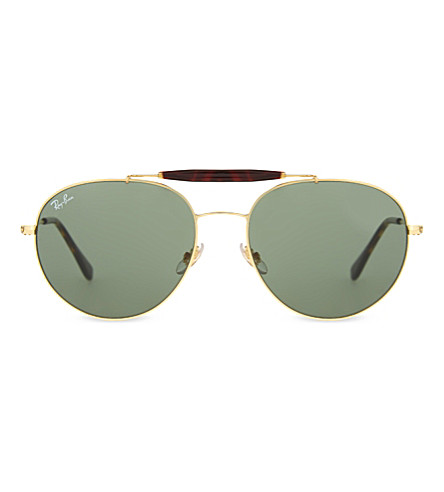 d4058e7371f RAY-BAN RB3540 aviator sunglasses (Gold