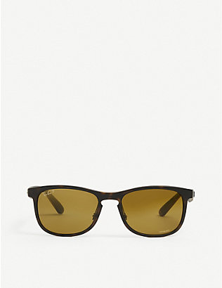 RAY-BAN: RB4263 Chromance® nylon rectangular-frame sunglasses