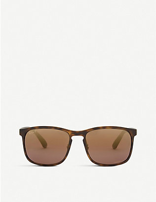 RAY-BAN: RB4264 Chromance® Havana square-frame sunglasses