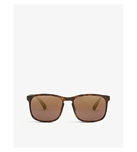 de6557d740 RAY-BAN RB4264 Chromance® Havana square-frame sunglasses (Matte+havana