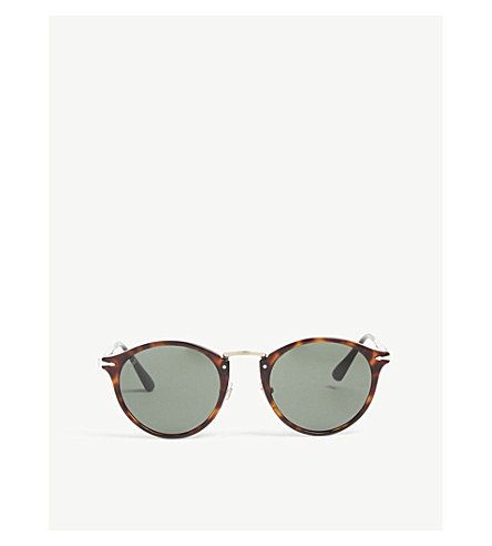 eb1cfb9334c72 PERSOL Round frame sunglasses (Brown