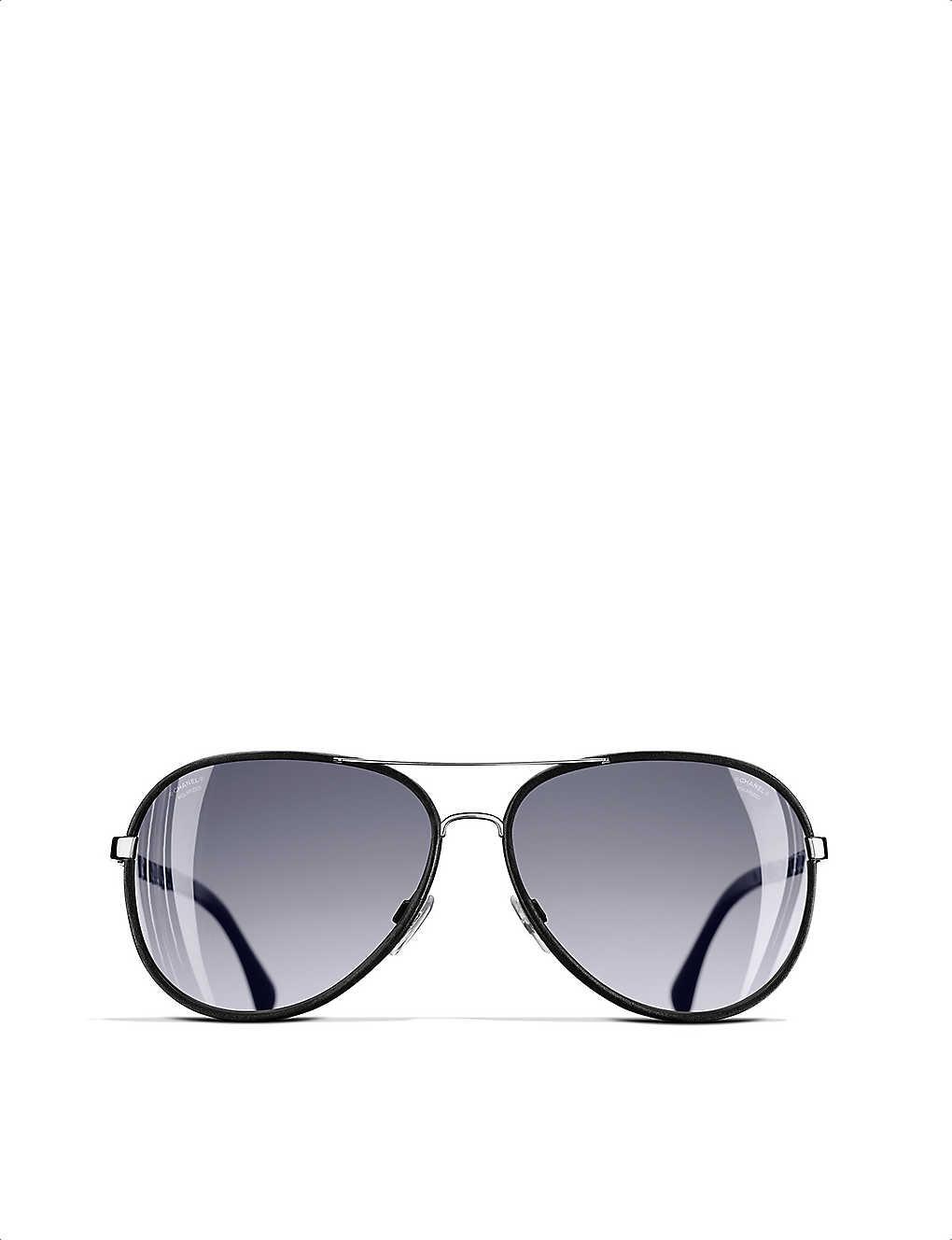 45c61faa0f44 CHANEL - Pilot sunglasses | Selfridges.com