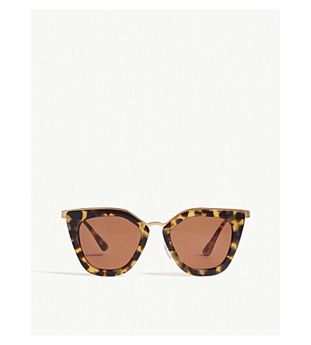 e6674fcf066e PRADA PR53S cat-eye-frame sunglasses (Brown