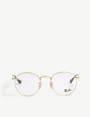 RAY-BAN: Phantos round-frame glasses