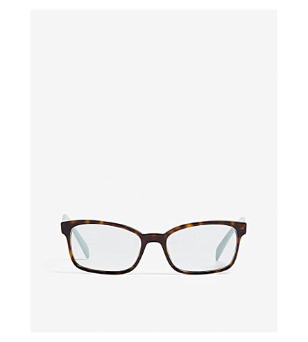 04c76ad7400 PRADA Pr18T51 Heritage rectangle-frame optical glasses (Havana