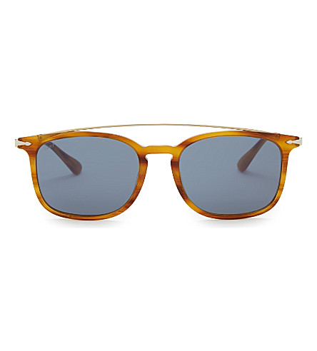 9350f81faa ... PERSOL Po3173s square-frame sunglasses (Havana. PreviousNext