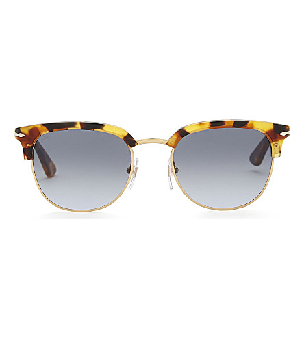 6709caaeb2611 PERSOL Po3105s Madreterra square-frame sunglasses (Havana
