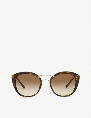 BURBERRY BE4251 round havana sunglasses