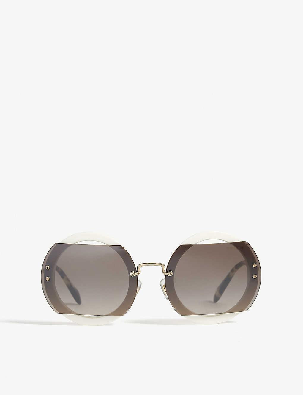 476de764243e MIU MIU - Mu06s Reveal round-frame sunglasses | Selfridges.com