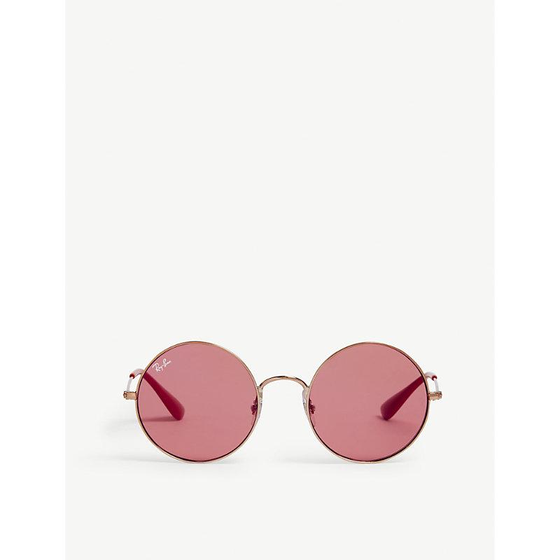 314b5400c0 Ray-Ban Ladies Bronze and Copper Luxury Rb3592 Ja-Jo Round-Frame Sunglasses