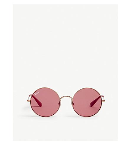 Rb3592 Ja-Jo Round-Frame Sunglasses in Bronze/Copper