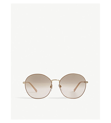 022440f997c BURBERRY Be3094 round-frame sunglasses (Gold