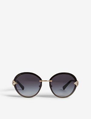 BVLGARI Bv6101 Divas' Dream oval-frame sunglasses