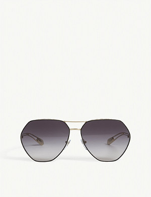 BVLGARI Bv6098 irregular sunglasses