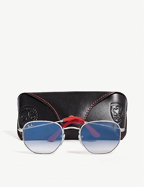 9bc60ac831a RAY-BAN Scuderia Ferrari RB3548 hexagonal-frame sunglasses