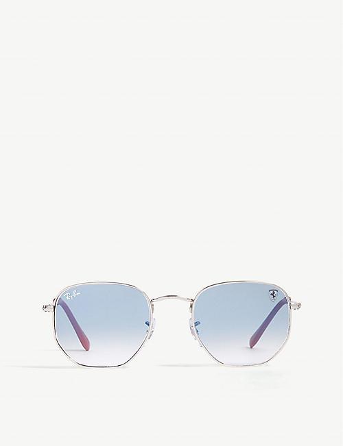 b8f9489899 RAY-BAN - Scuderia Ferrari RB3548 hexagonal-frame sunglasses ...