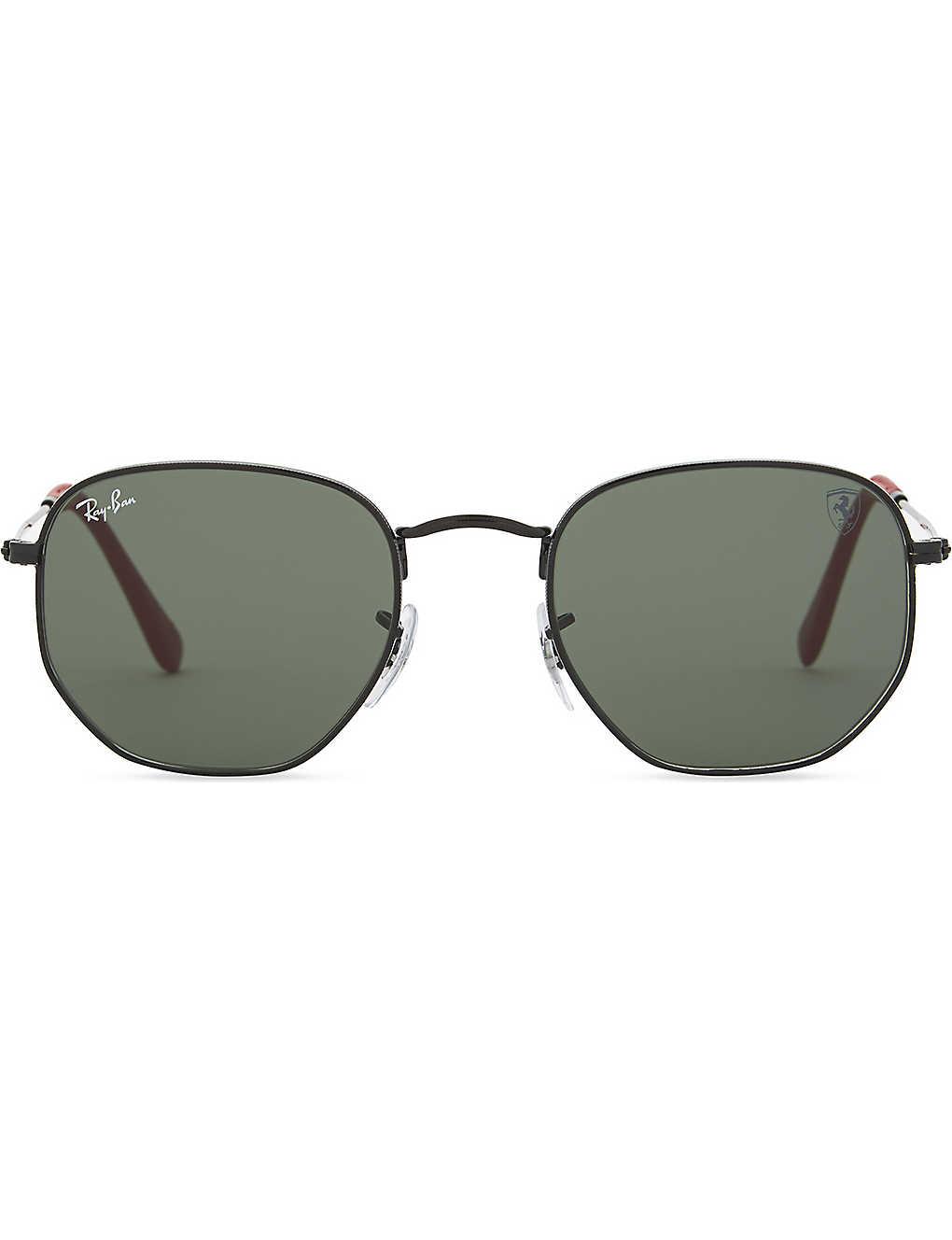 58491a390 RAY-BAN - RB3548NM hexagonal-frame sunglasses | Selfridges.com