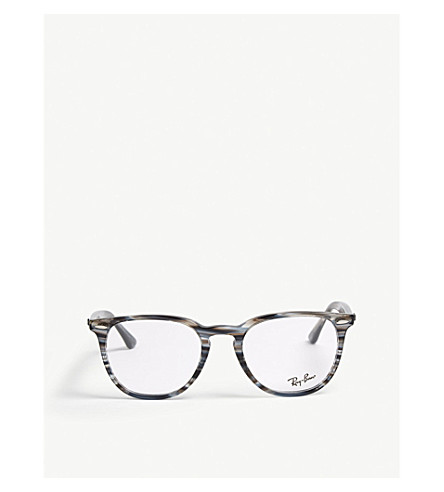 15fabd89fd1 Ray Ban Rb7159 Square-Frame Optical Glasses In Blue