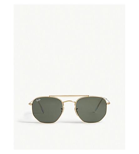 374e64344c7d Ray Ban Marshal Rb3648 Hexagonal Frame Sunglasses In Gold ...