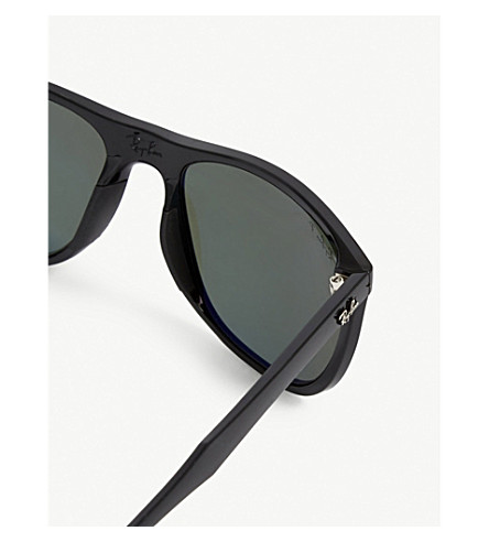 fa57366a56c Shop Ray Ban Rb3716 Clubmaster Square-Frame Sunglasses In Black