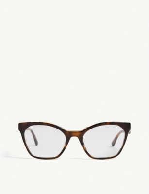 PRADA PR09U cat-eye-frame Havana glasses