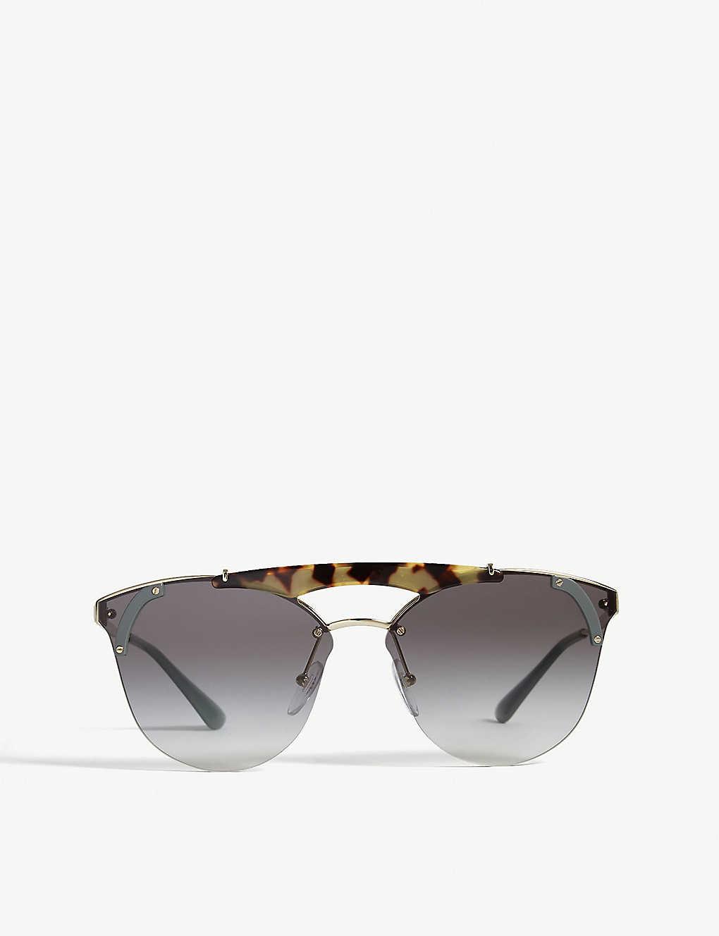 de6d8f599 PRADA - Pr53us round-frame sunglasses | Selfridges.com