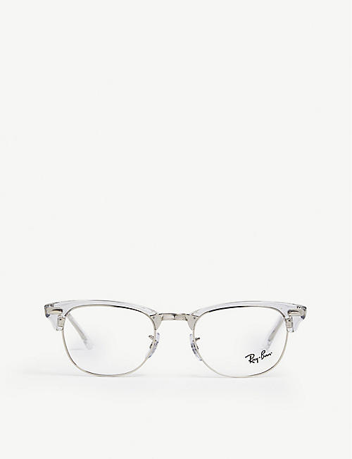 RAY-BAN - Clubmaster square glasses   Selfridges.com 80c829108bba
